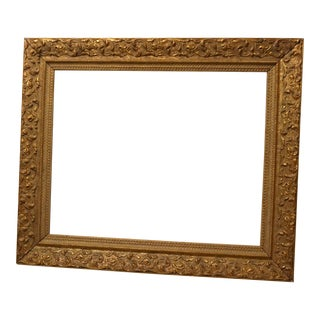 Ornate Distressed Gold Colored Frame