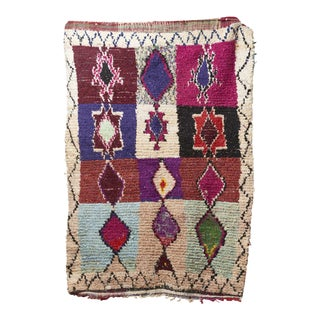 "Vintage Moroccan Boucherouette Rug - 6'4"" x 4""5"""