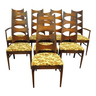 Kent Coffey Mid-Century Perspecta Dining Chairs - Set of 8