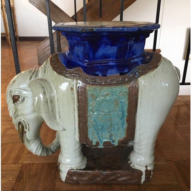 Vintage Elephant Garden Stool or Side Table - Image 2 of 7