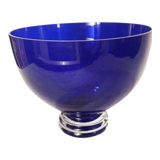 Cobalt Blue Pedestal Bowl