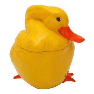 Yellow Duck Cookie Jar