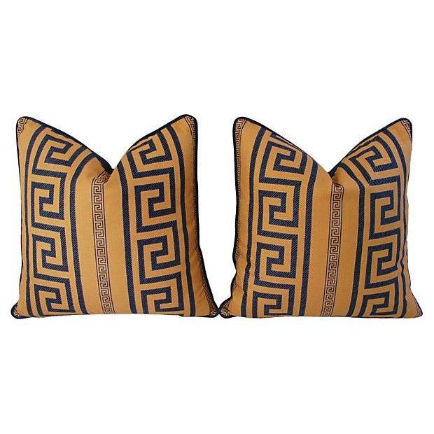 Designer Pierre Frey Greek Key Pillows - A Pair - Image 11 of 11