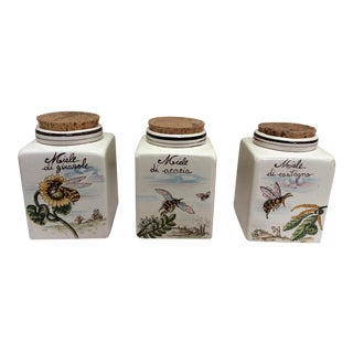 Vintage Set of Honey Jars