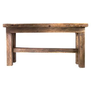 Custom Trestle Wood Table