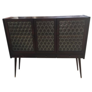 Drexel Credenza with Circle Glass Doors