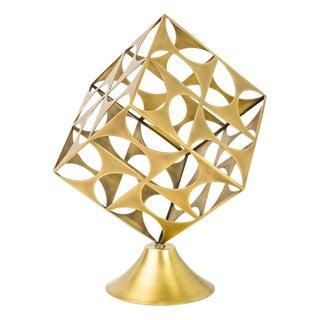 Modern Brass Axis Sculpture