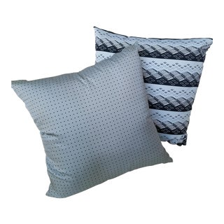 Powder Blue Custom Silk Pillows - A Pair