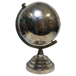 Large Nickle World Globe