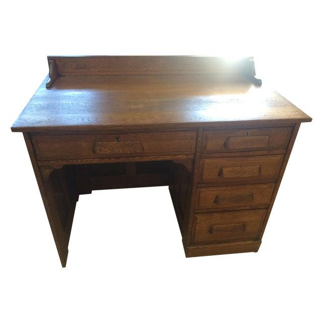 Antique oak teacher s desk chairish