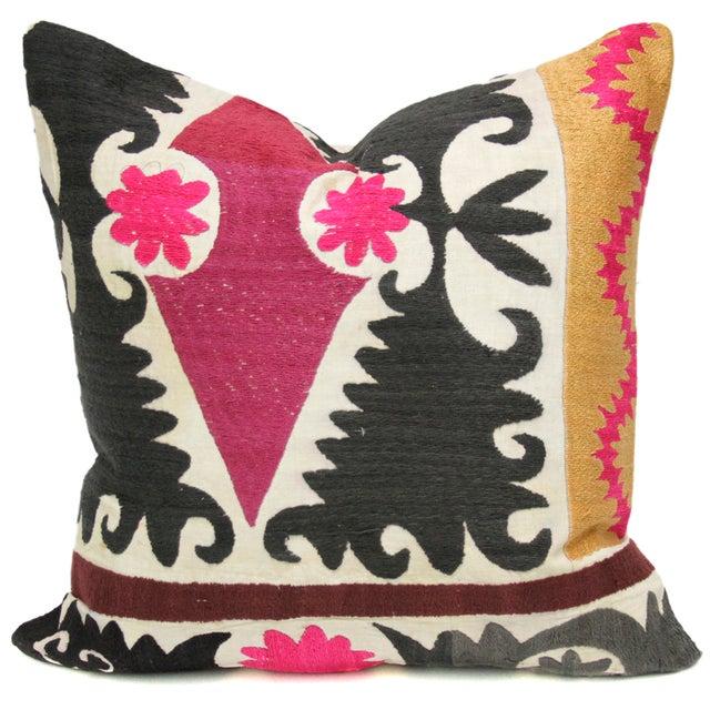 Vintage Suzani Saffron Pillow - Image 1 of 2