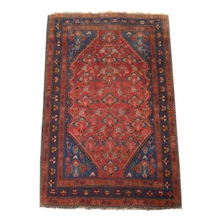 1930s Persian Love Doves Afshsar Rug - 3′4″ × 5′
