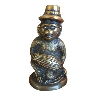 Vintage Solid Brass Monkey