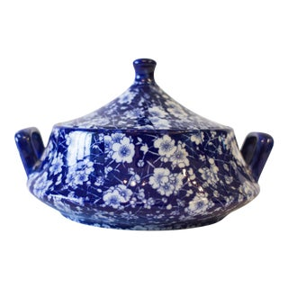 Vintage Chinese Blue and White Tureen