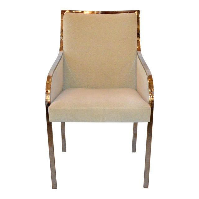 Set of Six Newly Upholstered Pierre Cardin Dining Chairs - Image 2 of 7