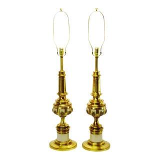 Vintage 1950's Hollywood Regency Stiffel Table Lamps - A Pair