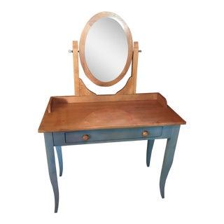 Ethan Allen Blue & Oak Vanity