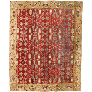 Exceptional Antique 19th Century Indian Agra Carpet