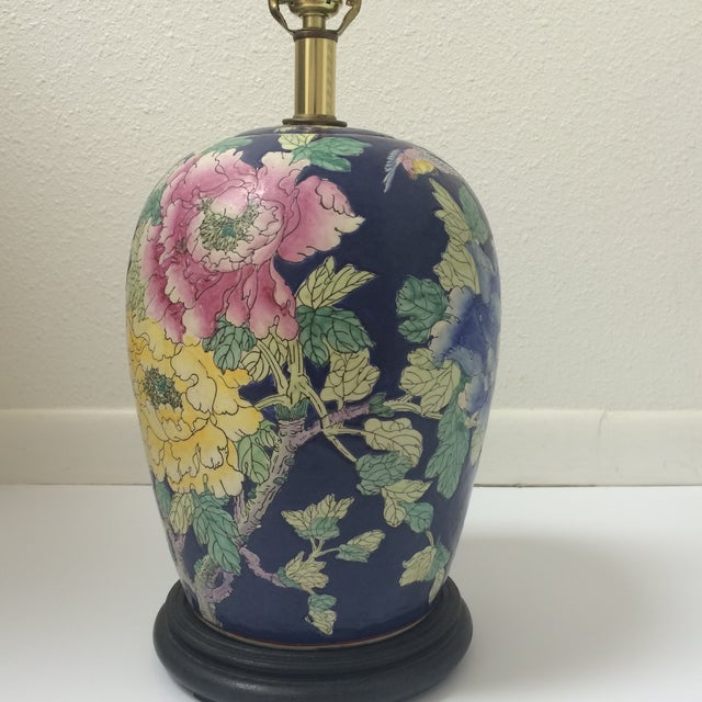 Chinoiserie Blue Floral Ginger Jar Lamp - Image 3 of 8