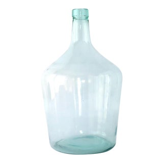Vintage Glass Demijohn Bottle