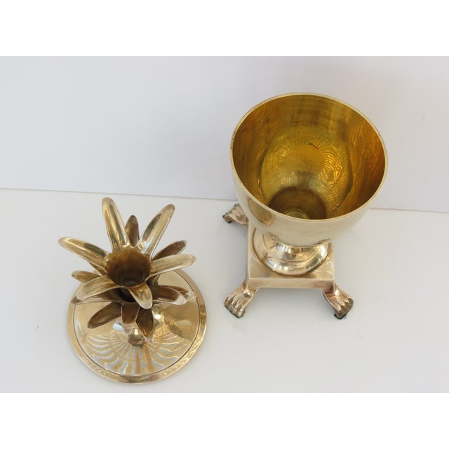Image of Brass Pineapple Lidded Container