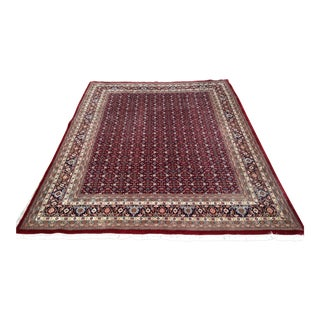 Hand Knotted Indian Herati Wool Rug - 9' X 11'9""