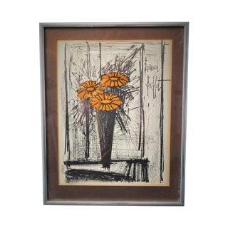Bernard Buffet Orange Flower Lithograph