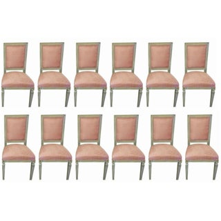 Paint & Gilt Dining Chairs - Set of 12