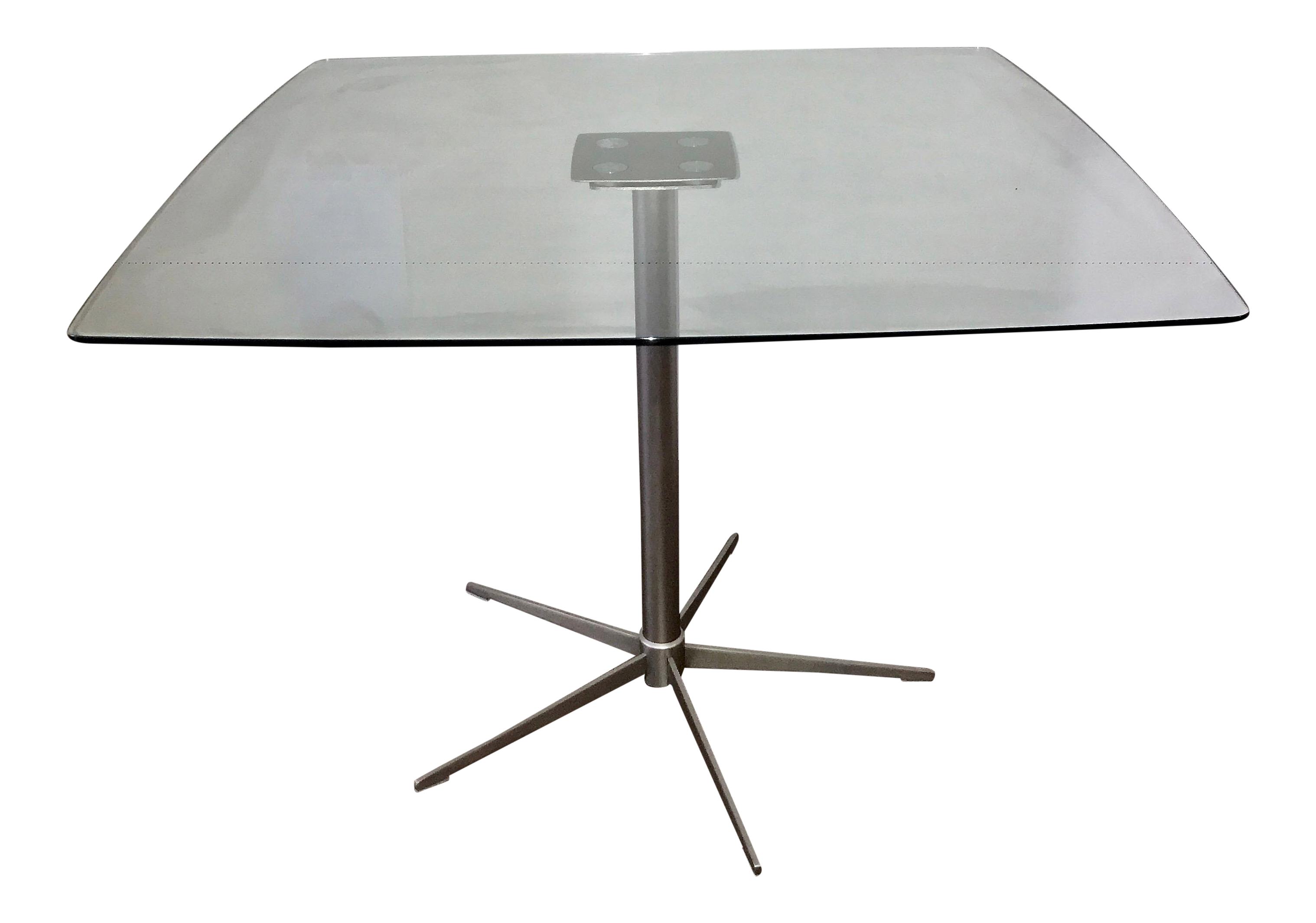 Square Glass Dining Table vintage & used glass dining tables | chairish