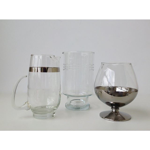 Assorted Glass & Silver Cocktail Mixers - Set of 3 - Image 4 of 10