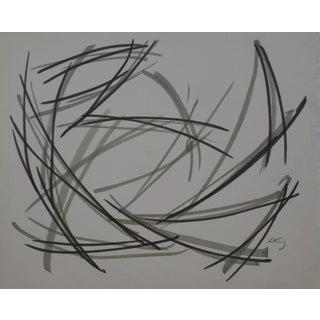 Emlen Etting Gouache & Ink Drawing