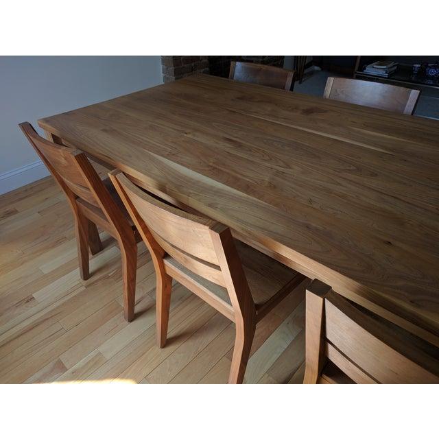 Room & Board Walnut Dining Table Set - Image 5 of 5