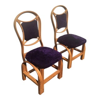 Danish Mid Century Art Deco Side Chairs - Set of 2