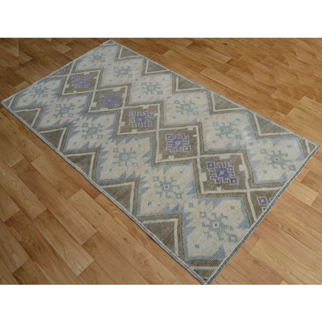 Hand-Knotted Antiqued Turkish Rug - 3′1″ × 5′7″ - Image 2 of 9