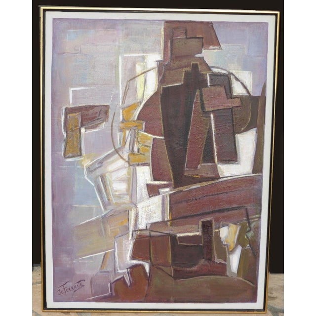 Mario De Ferrante Abstract Oil On Canvas Painting - Image 2 of 9