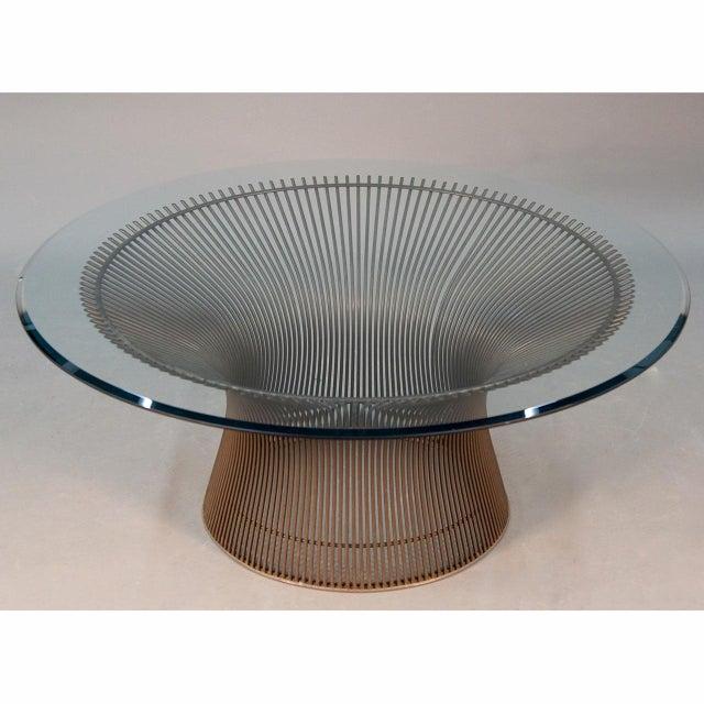 Warren Platner Original Bronze Coffee Table - Image 7 of 8