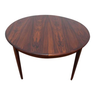 Rosewood Round Dining Table by H. Sign & Sons