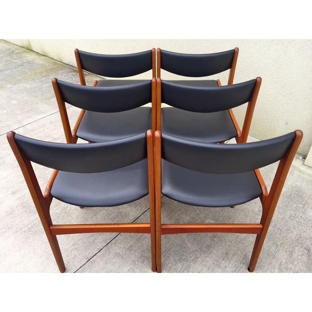 Mid Century Danish Modern Teak Dining Chairs 6 Chairish