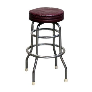 Red Leather Top Stool