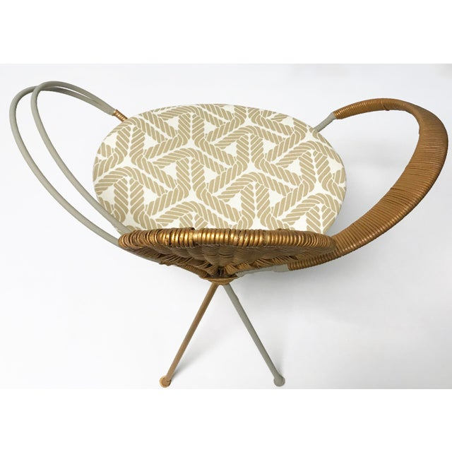 Wrought Iron Accent Chair - Image 5 of 10