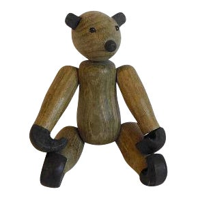 Vintage Kay Bojesen Style Mid-Century Wood Bear