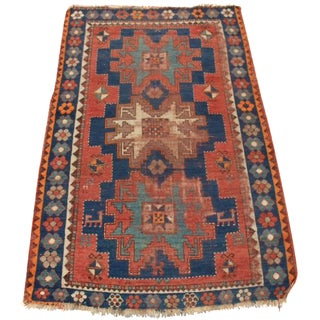 Semi-Antique Turkish Konya Rug - 4′1″ × 5′5″