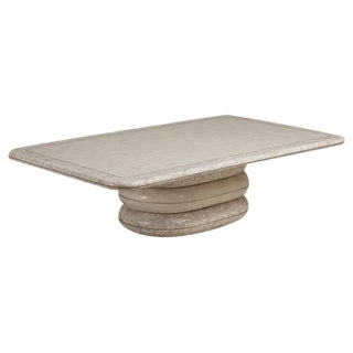 A Tessellated Maitland Smith Coffee Table with Brass Trim
