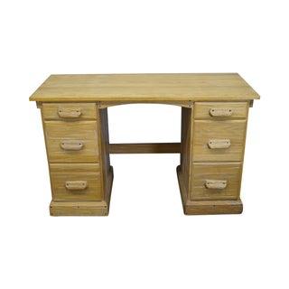 Vintage Brandt Ranch Oak Kneehole Writing Desk