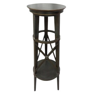 Traditional Wooden Tall Pedestal Table