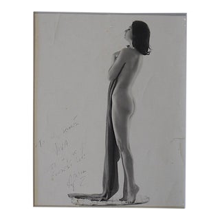 Vintage Silver Gelatin Photograph-Standing Nude Female