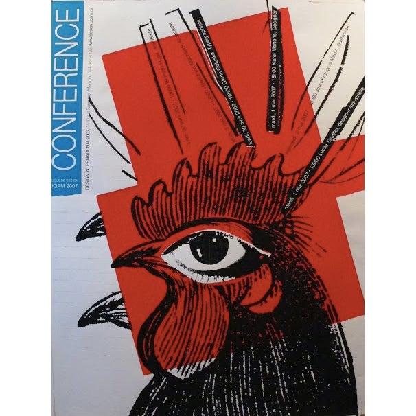 Original Halasa Poster Design, Rooster - Image 2 of 2