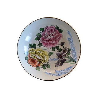 Vintage Floral Wall Plate