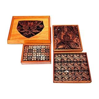 Antique Javanese Batik Irons II - Set of 4