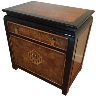 Century Furniture Chin Hua Burl Nightstand